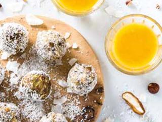 Energy balls met vruchtenpulp en dadels